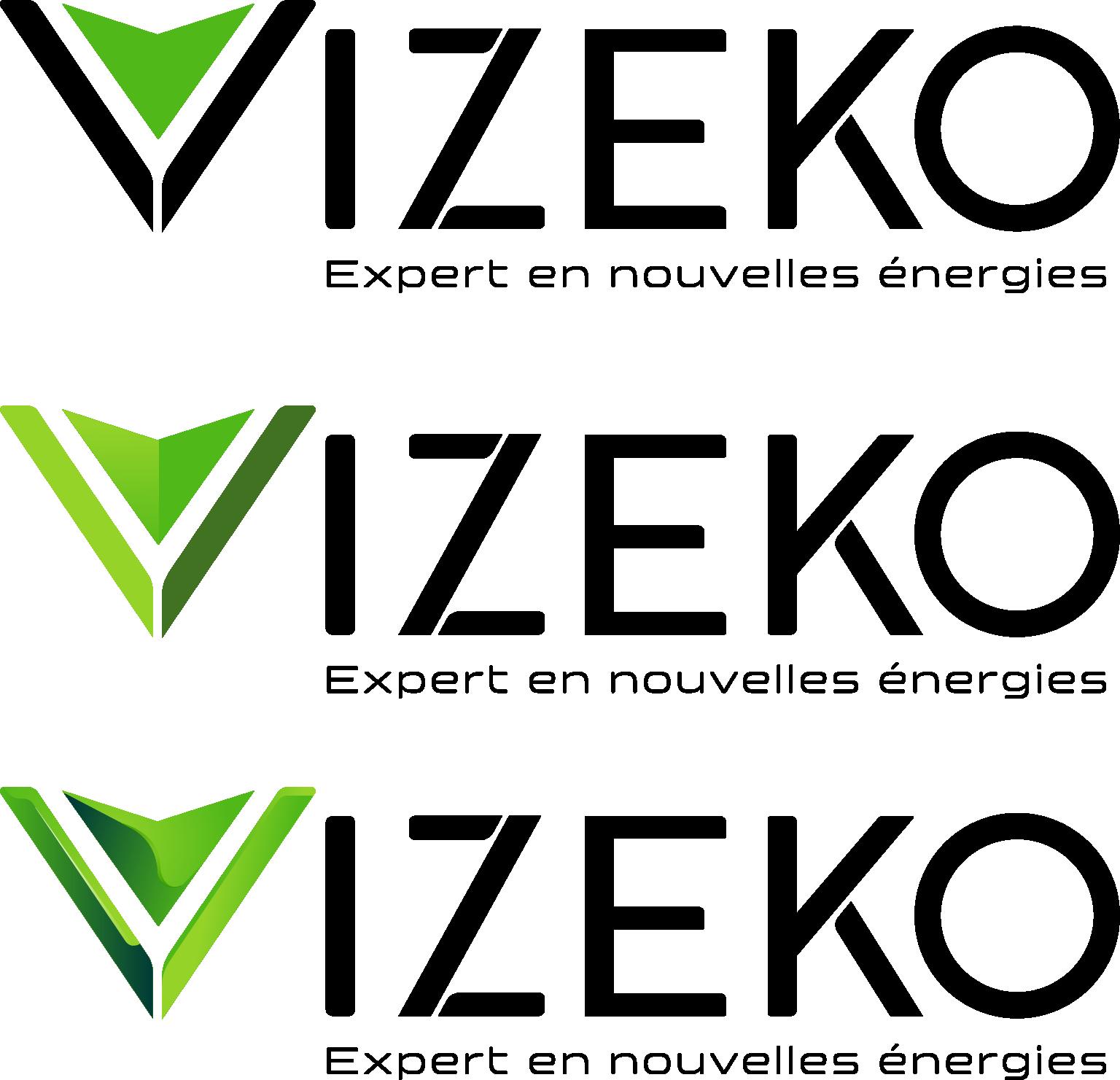 réalisation du Logo Vizeko - Moderne, Fort et tourné vers l'environnement