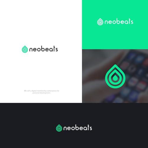 neobeats logo design