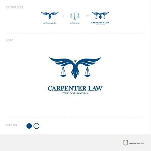 Logo concept for Carpenter Law firm