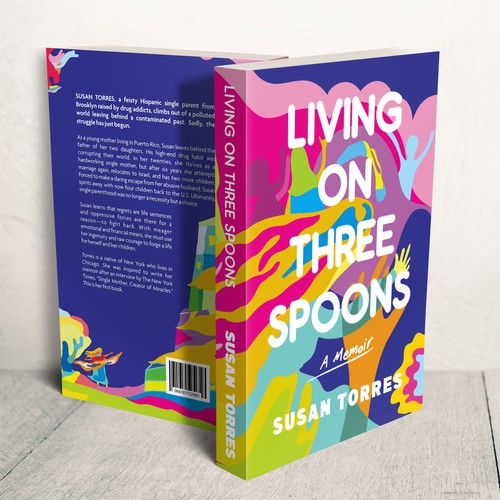 Abstract Pop Book Cover design