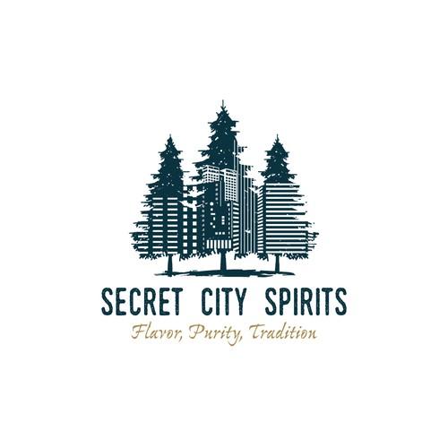 Logo design for craft distillery