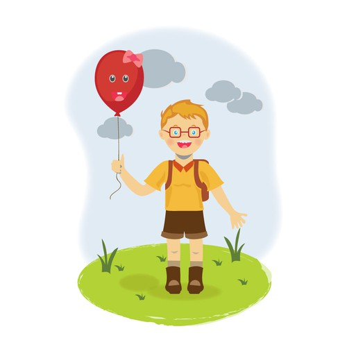 Boy character for children book