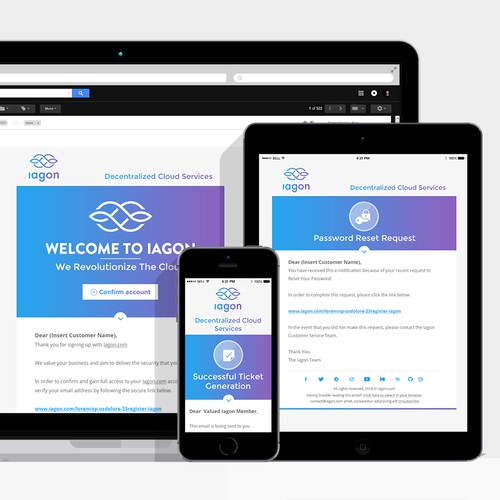 Iagon responsive email design