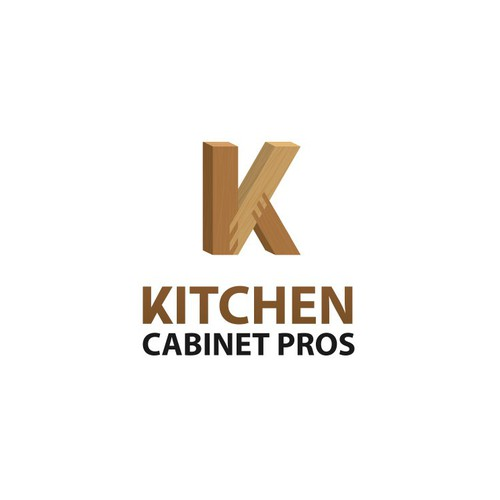 casual modern logo for cabinet company