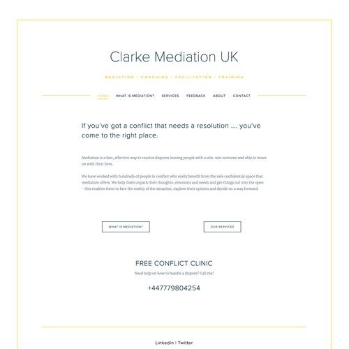 Squarespace website for mediation client