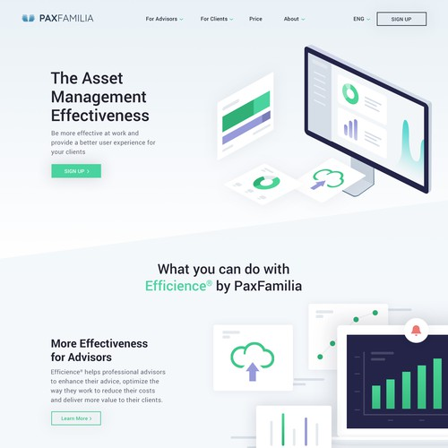 Website Design for Financial website