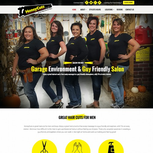 Homepage Design for Salon