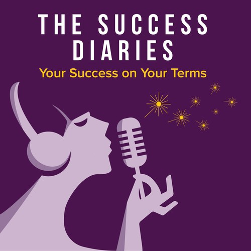 Postmodern logo for The Success Diaries Podcast Cover