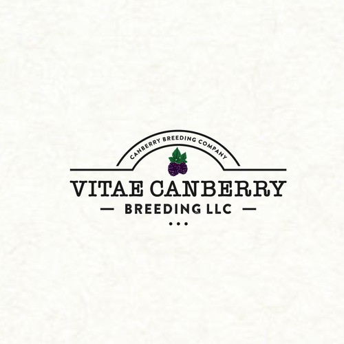 Vintage logo for cranberry farm
