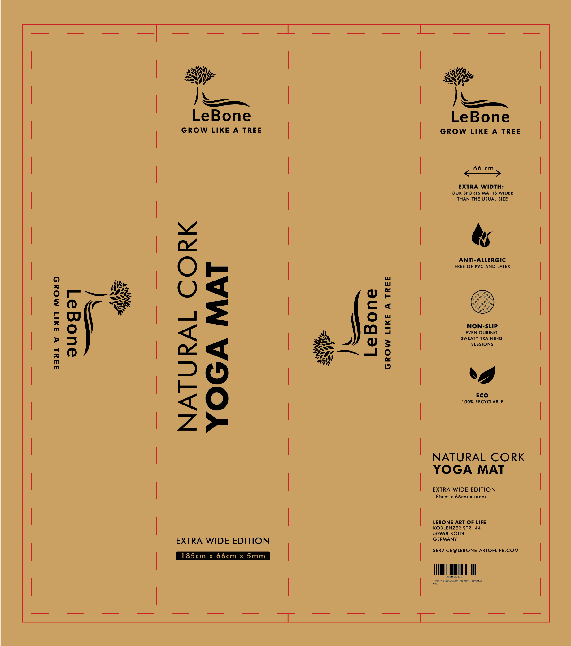 Packaging design of carton box for yoga mat