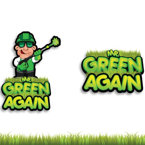 Mr Green Again Lawn Painting Logo