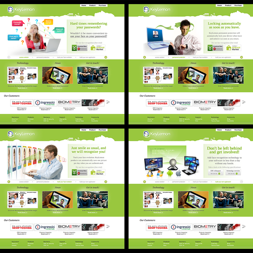 Display Ads illustrating face recognition solutions