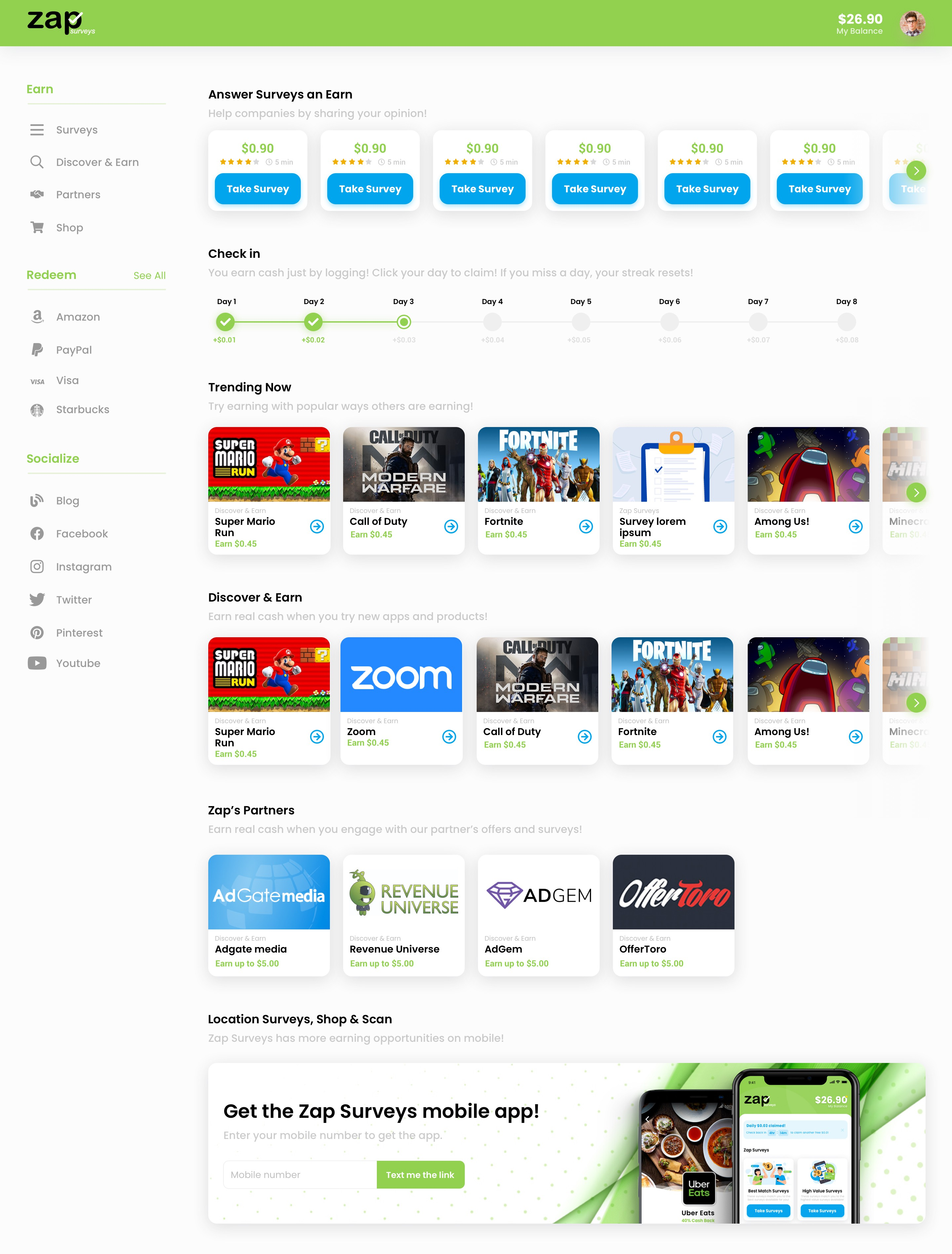 Mobile App --> Website (post-login)