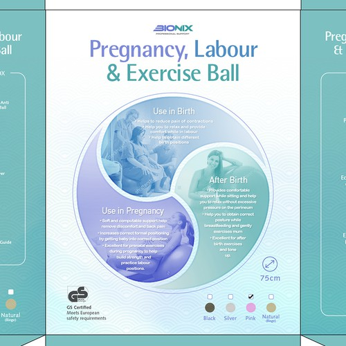 Pregnancy, Labour & Exercise Ball Package design