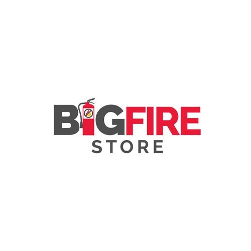 "Logo design for ""BigFire Store"""
