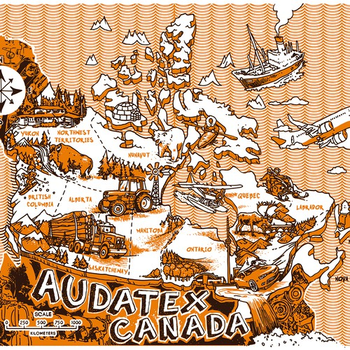 Canada map for Audatex.