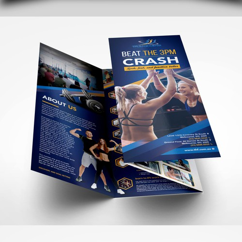 Design a personal training services brochure