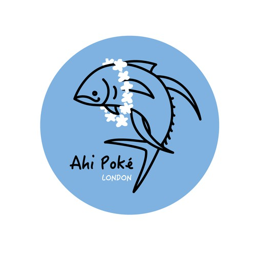 Poke food Hawaiian restaurant logo