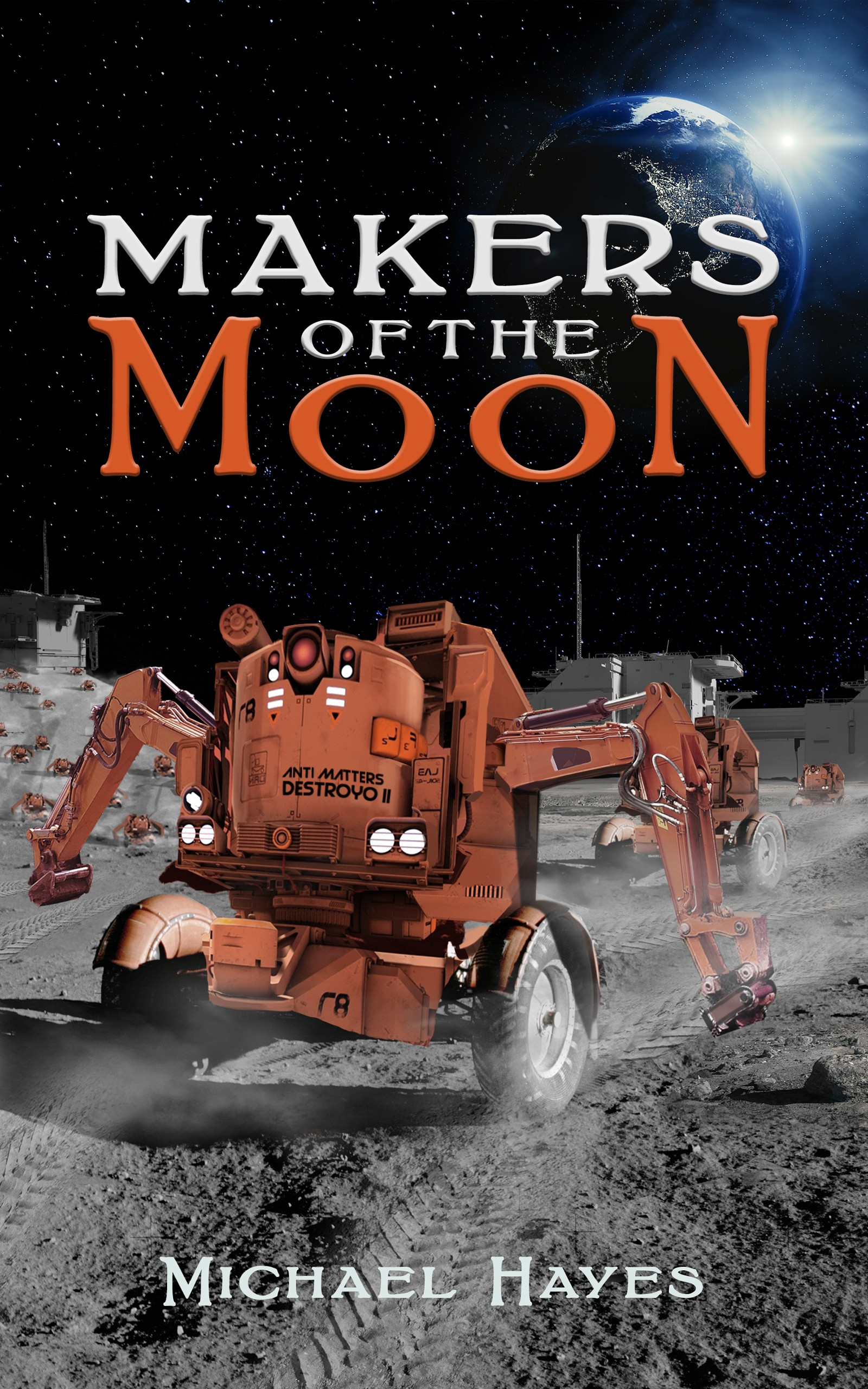 Designing Cover for fiction book where Gamers Take Over the Moon?