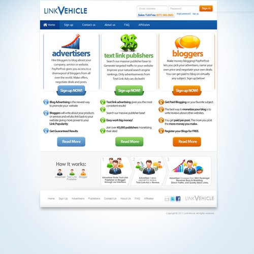 "Add to our current home page at LinkVehicle.com ""Just upped the contest $100"""