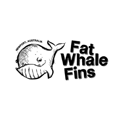 Create the next logo for Fat Whale FIns