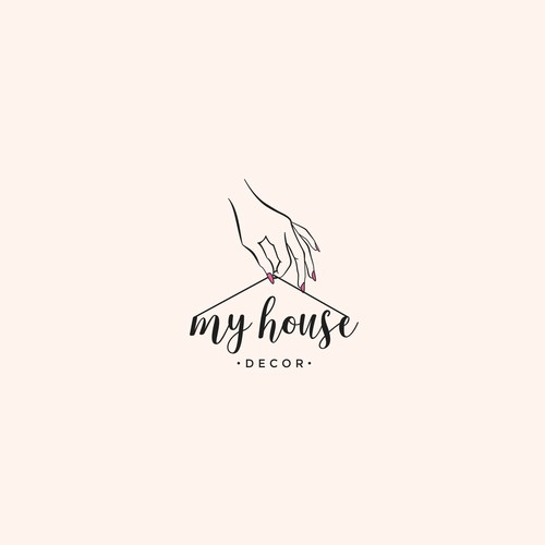 Feminine logo concept for Home Furnishing company