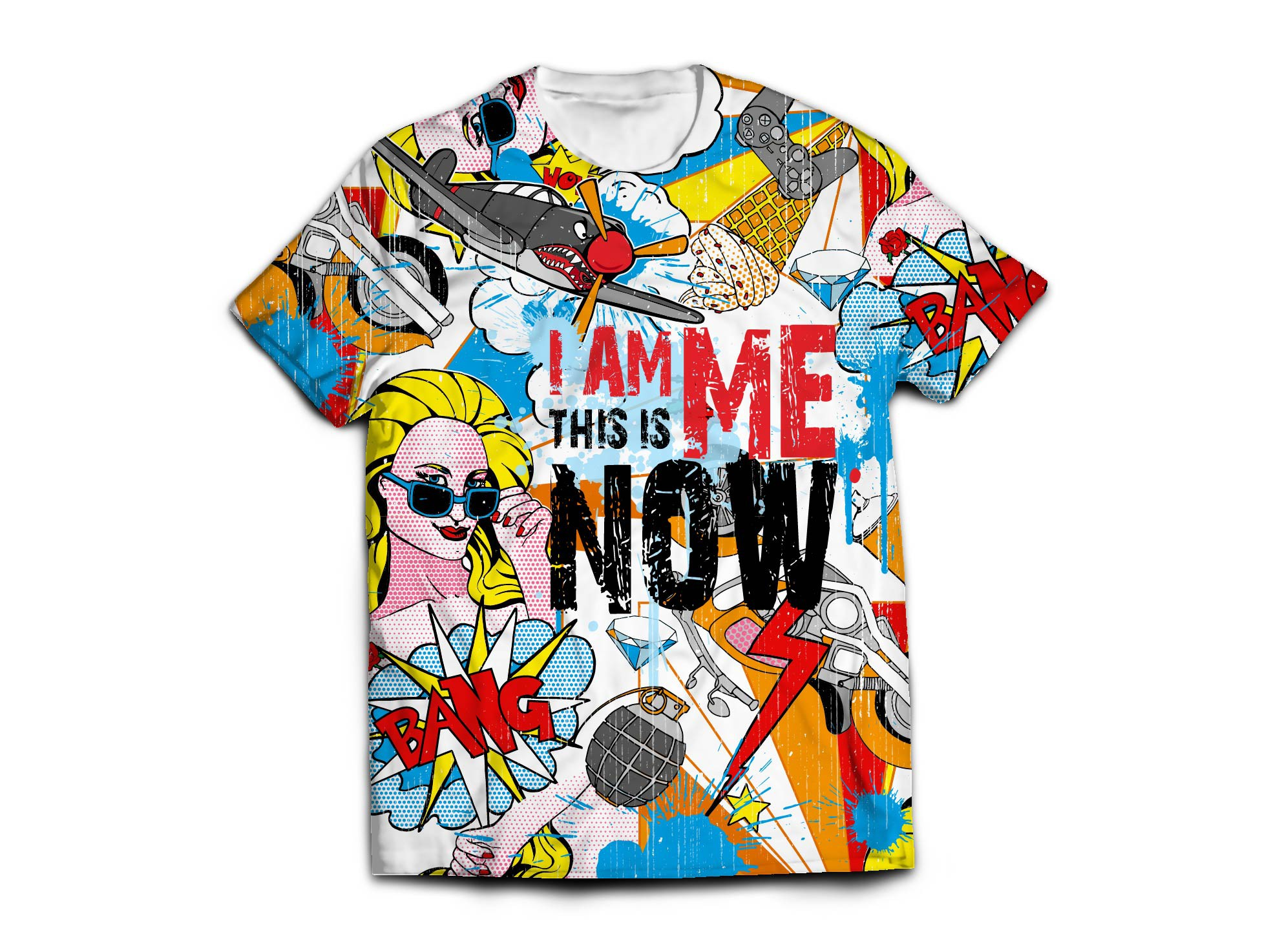 Create a bold and abstract art t-shirt design for Streetwear Apparel Line
