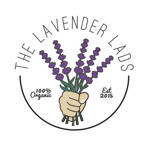 Graphic logo for The Lavender Lads