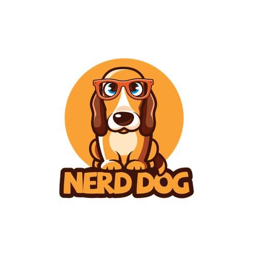Logo for nerd dog