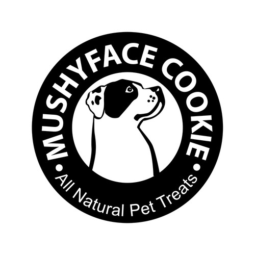 Clean logo for dog food company