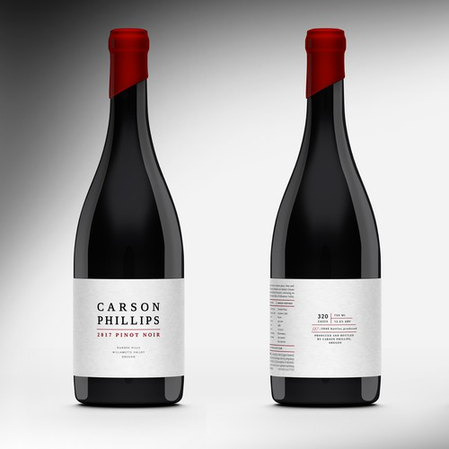 Elegant and minimal wine label