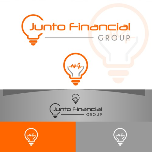Create a subtle and enticing logo for Junto Financial