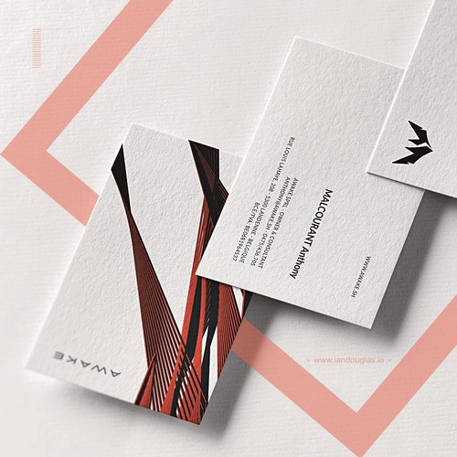 Premium business cards for Awake