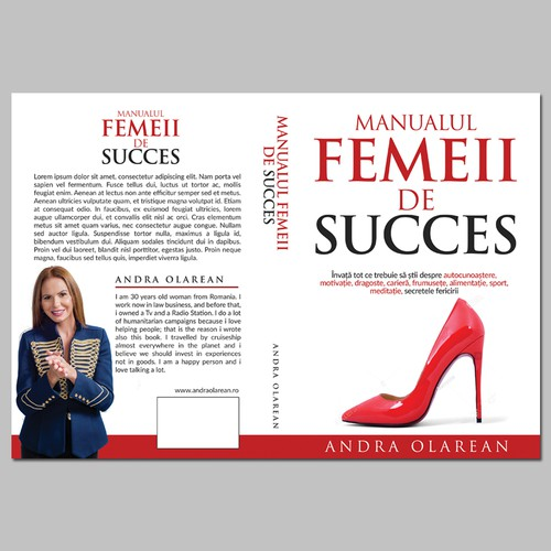 design a cover for a Personal Development book: Successful women's manual