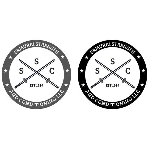 Create a badass samurai logo for a badass fitness business