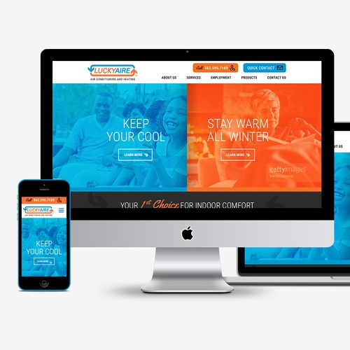 Responsive HVAC Website