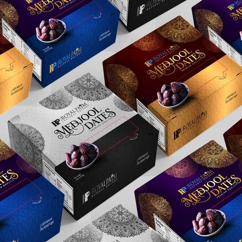 Luxury Medjool Dates Box Packaging design