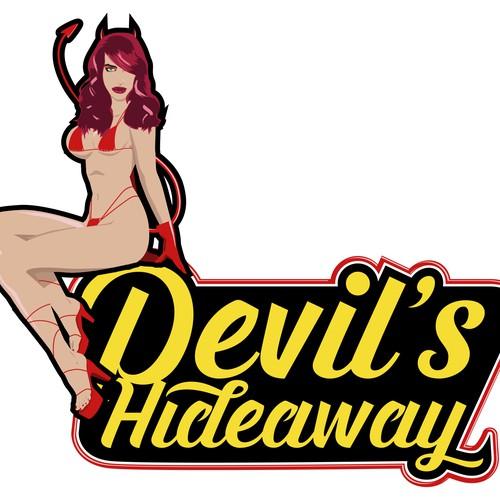 Devil's Hideaway strip club logo proposal