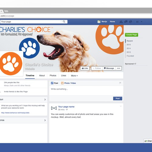 Pet Facebook cover
