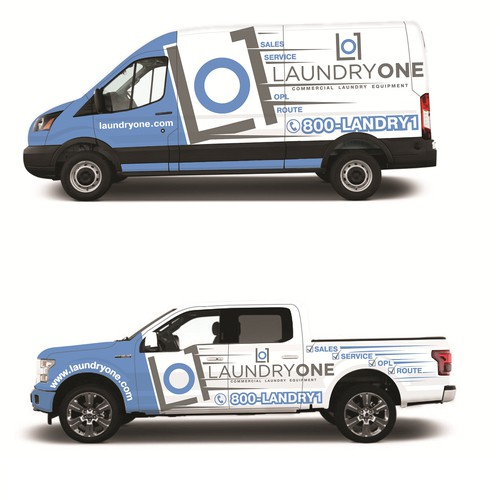Laundry Equipment Company needs their vehicles dressed up!