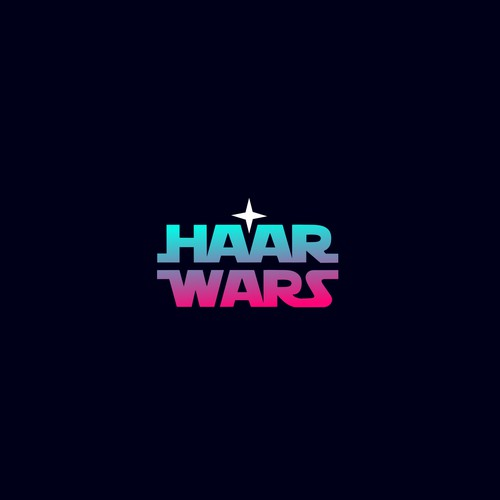 logo for laser hair removal. using star wars as inspiration.