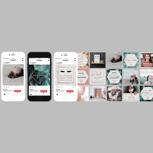 Social Media Content for Lash Studio