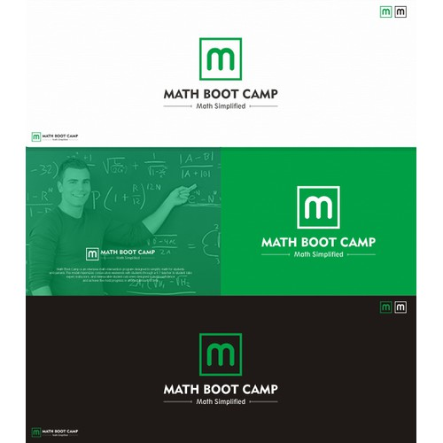 Create a logo for Math Boot Camp, a company founded by educators turned entrepreneurs!