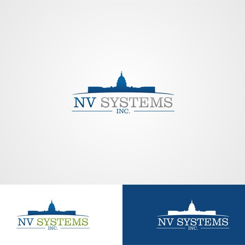 Campany logo for NV Systems Inc.  Located in Washington DC