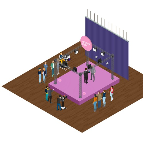 isometric image made for tv studio