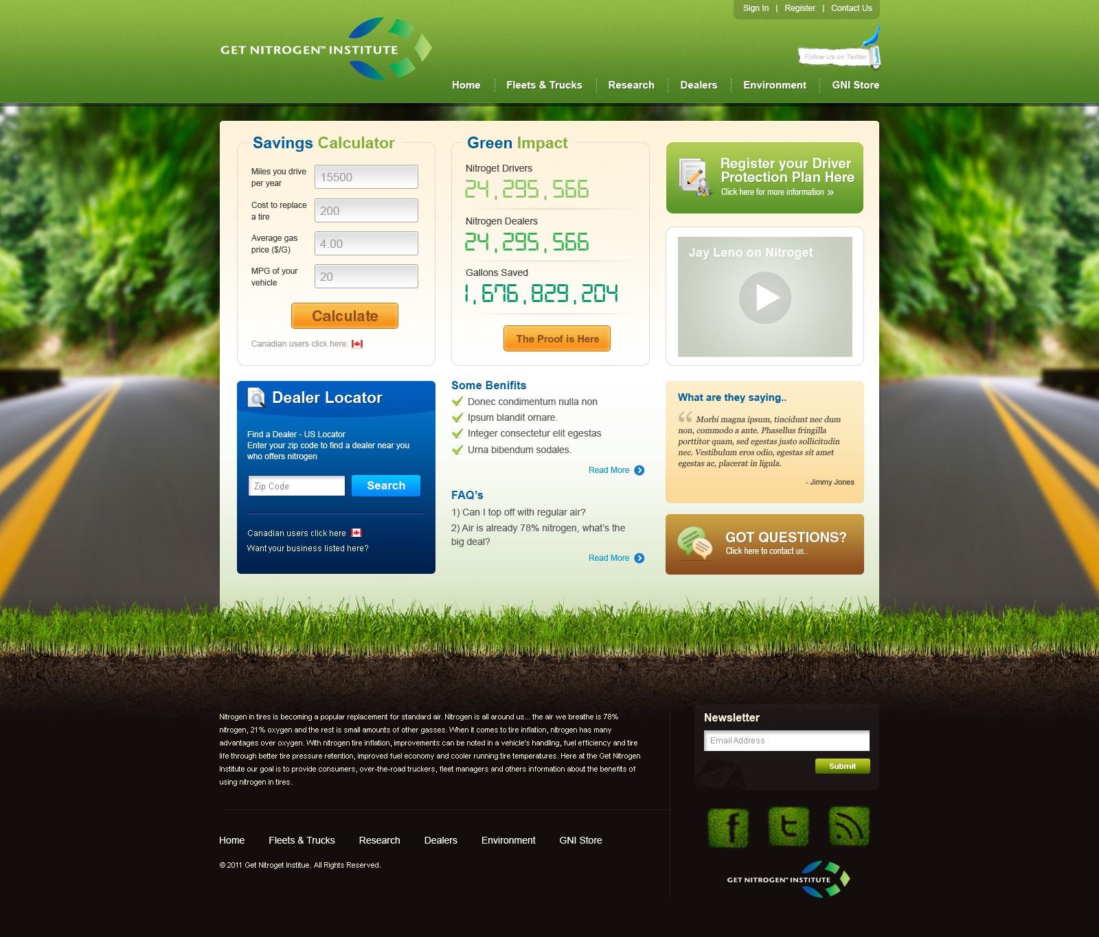 Get Nitrogen Institute needs a new website design