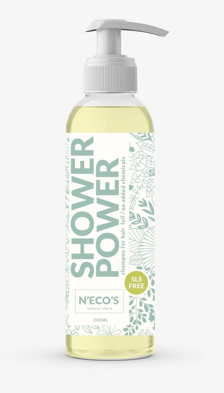 Natural Chemical Free Shampoo Bottle Label Design