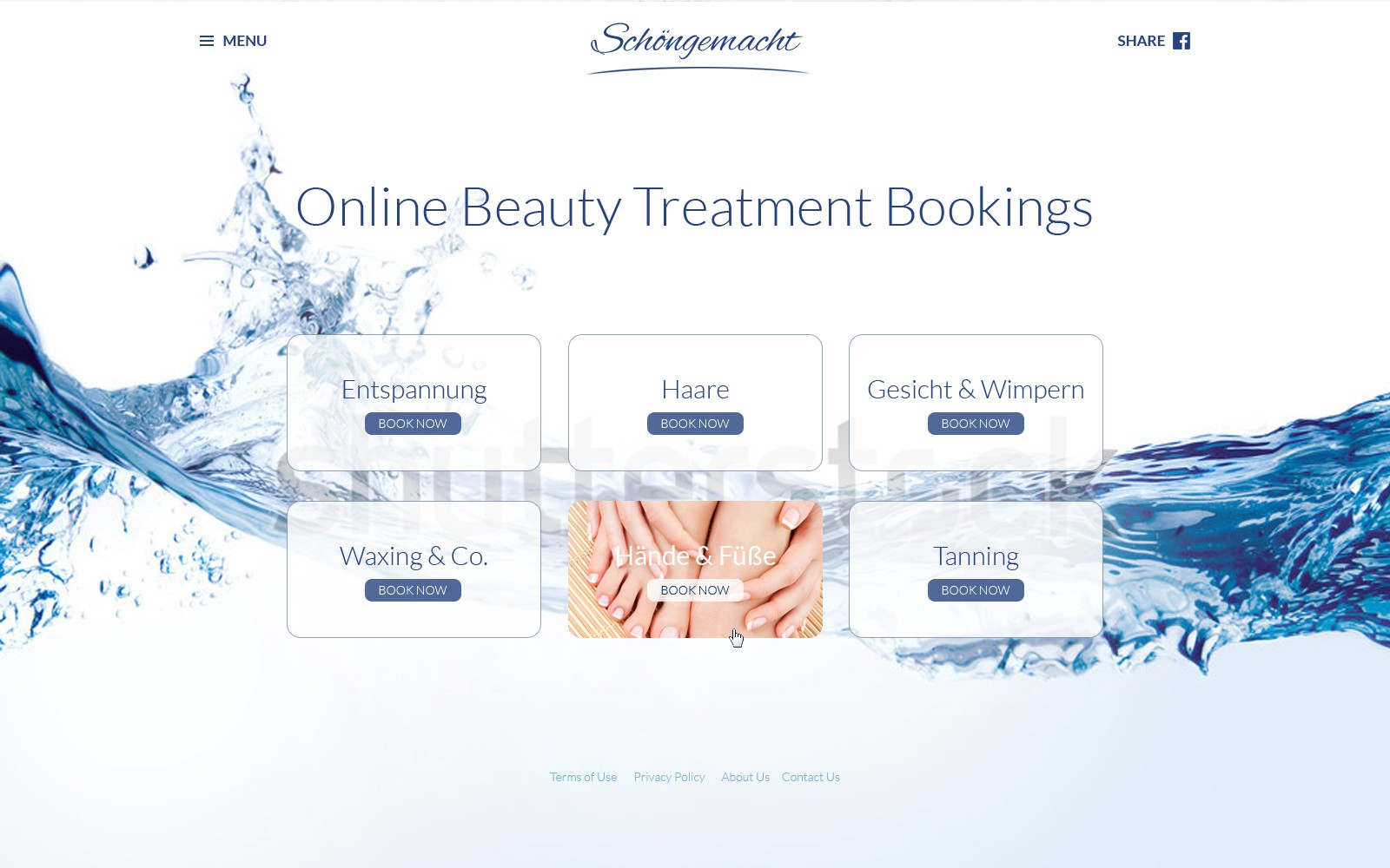 Superior booking website for beauty services!
