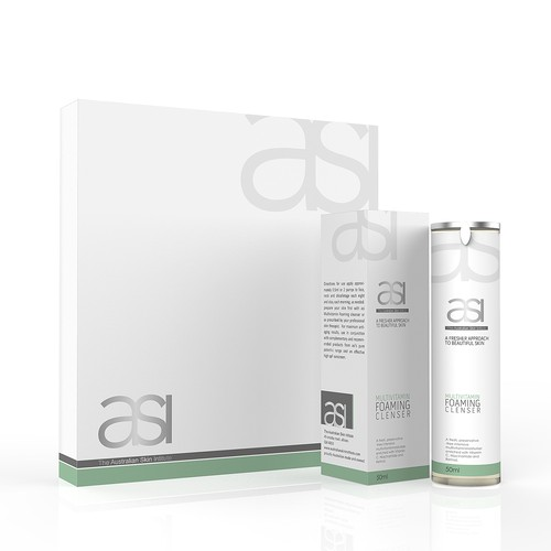 Australian Skin Institute - Product branding / label design