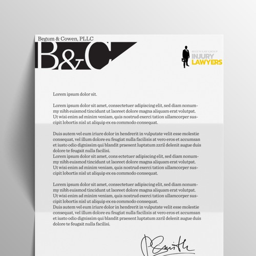 Letterhead for law firm